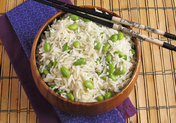 Basmati Rice and Edamame - a perfect side dish to any type of Asian-influenced cuisine!
