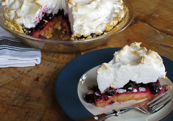 Blueberry Lemon Meringue Pie