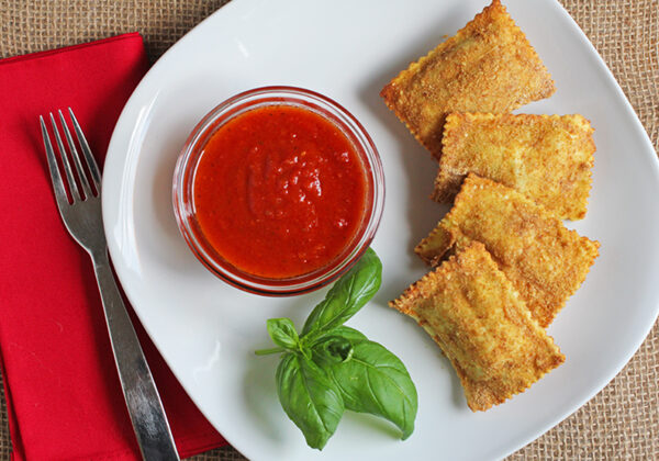 Wheaties oven baked ravioli are a healthy spin on fried ravioli and a kid favorite