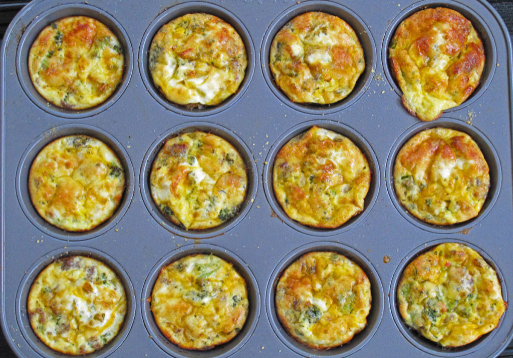 "Broccoli and Sausage Egg ""Muffins"""