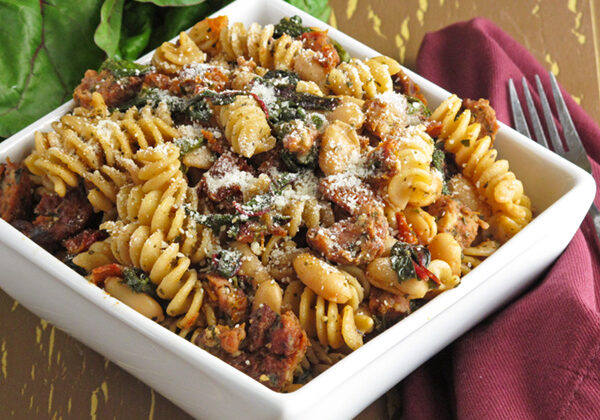 Chicken Sausage and Bean Penne Pasta