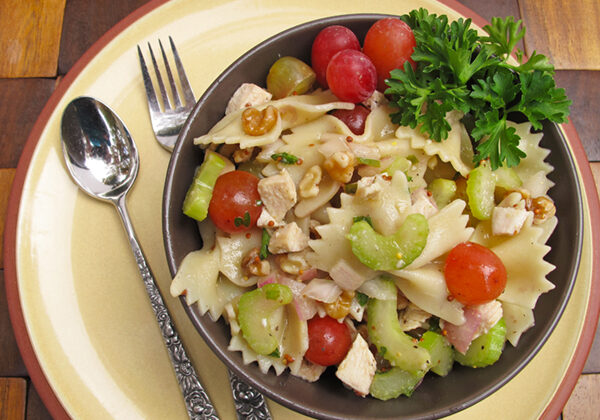 Roasted Chicken and Grapes Pasta Salad