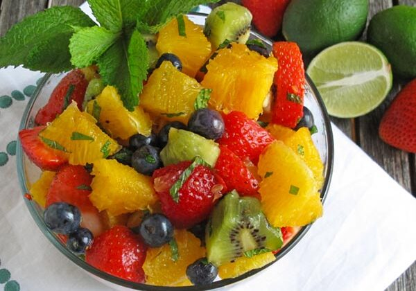 Fruit Salad with Mint Dressing
