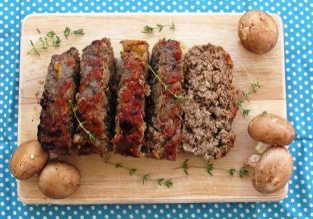 Garden Mushroom and Beef Meatloaf