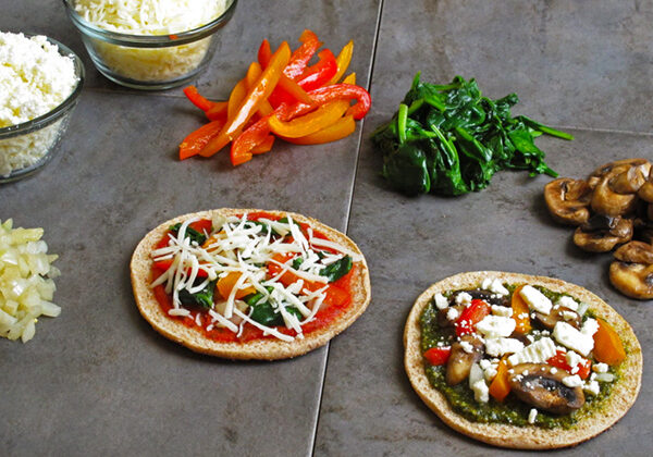 Make Your Own Veggie Pizza - fun for the whole family!