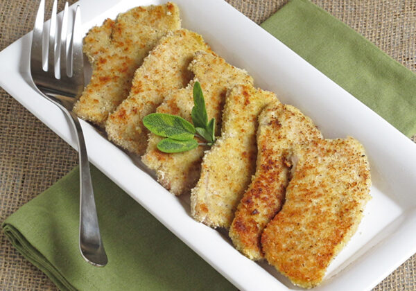 Parmesan Sage Crusted Pork Chops