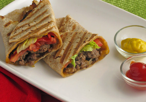 Pressed Cheeseburger Wraps - a super fun twist on a classic burger
