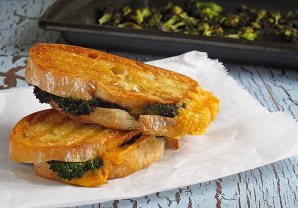 Roasted Broccoli Grilled Cheese Sandwich- dress up this comfort food just a bit and it becomes even more dreamy and delicious!
