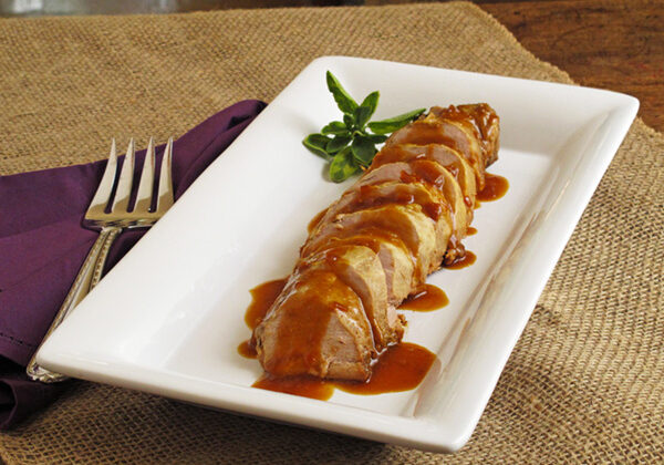 This Slow Cooker Maple & Mustard Pork Tenderloin is an easy but elegant week night dish