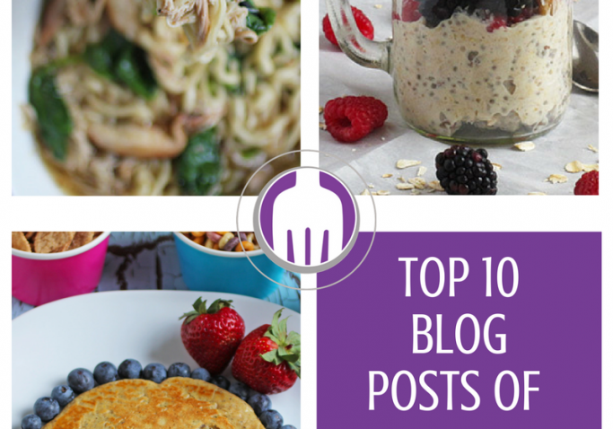 Our top 10 blog posts of 2016 - lots of great recipes and sharing nutrition knowledge