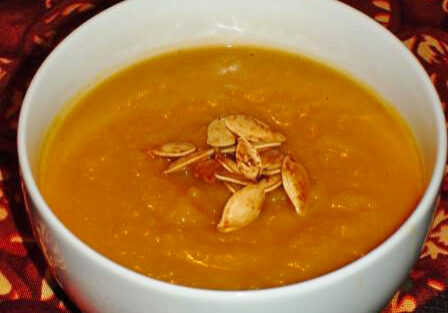 Roasted Pumpkin, Squash and Apple Soup